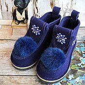 Обувь ручной работы. Ярмарка Мастеров - ручная работа Валеши Синие. Handmade.