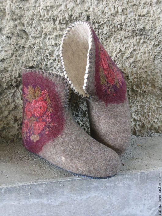 Обувь ручной работы. Ярмарка Мастеров - ручная работа. Купить Валенки для дома. Handmade. Валенки ручной валки, для дам