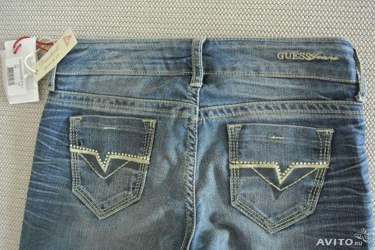 Брюки, шорты ручной работы. Ярмарка Мастеров - ручная работа. Купить джинсы. Handmade. Синий, стразы, джинса