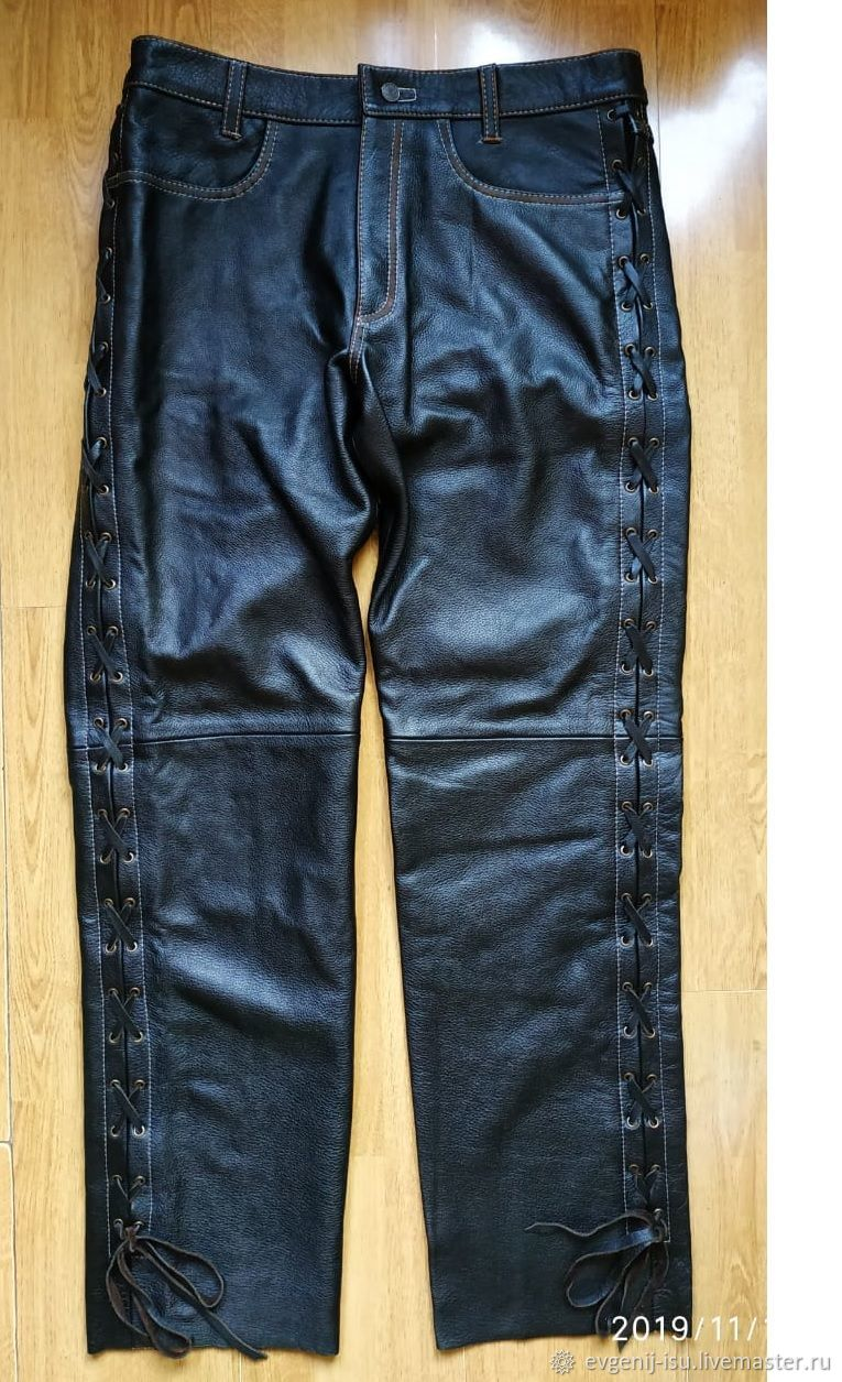 Leather pants ' Old America», Mens pants, Moscow,  Фото №1