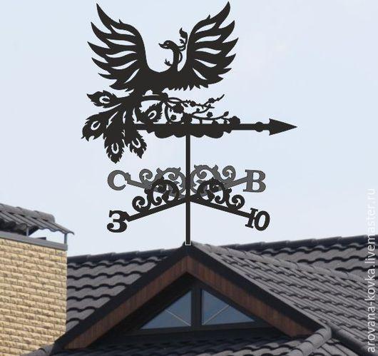 """Экстерьер и дача ручной работы. Ярмарка Мастеров - ручная работа. Купить Флюгер на крышу """"Жар-птица"""". Handmade. Черный"""