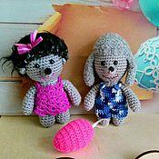 Куклы и игрушки ручной работы. Ярмарка Мастеров - ручная работа Зверюшки в карманчик. Пудель и девочка Ежик. Handmade.
