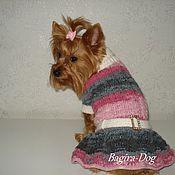 """Для домашних животных, ручной работы. Ярмарка Мастеров - ручная работа Платье для маленьких собак """"Красотка"""". Handmade."""
