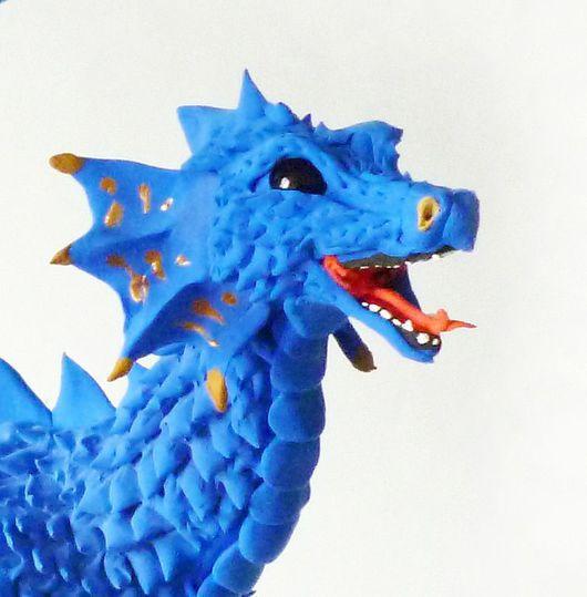 """Игрушки животные, ручной работы. Ярмарка Мастеров - ручная работа. Купить фигурка """"Синий дракон реки"""" (дракон, игрушка). Handmade."""