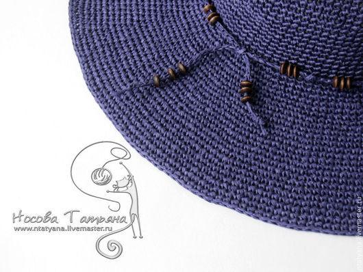 Шляпы ручной работы. Ярмарка Мастеров - ручная работа. Купить Шляпка Южная ночь. Handmade. Тёмно-фиолетовый, летняя шляпа