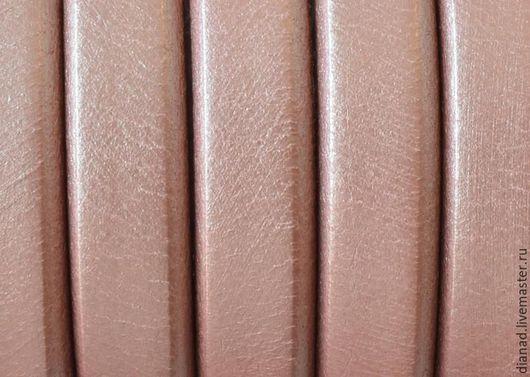 Для украшений ручной работы. Ярмарка Мастеров - ручная работа. Купить Кожаный шнур регализ, розовый перламутр. Испания. Handmade.