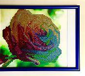 """Картины и панно ручной работы. Ярмарка Мастеров - ручная работа Алмазная выкладка """"Роза"""". Handmade."""