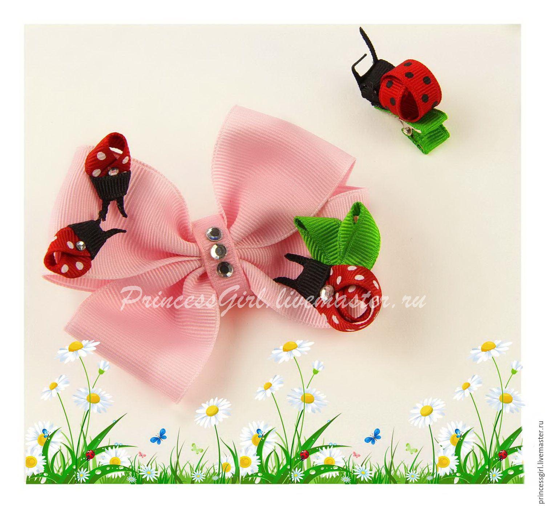 Bow +clip 'ladybug', Knot hair bow, Moscow,  Фото №1