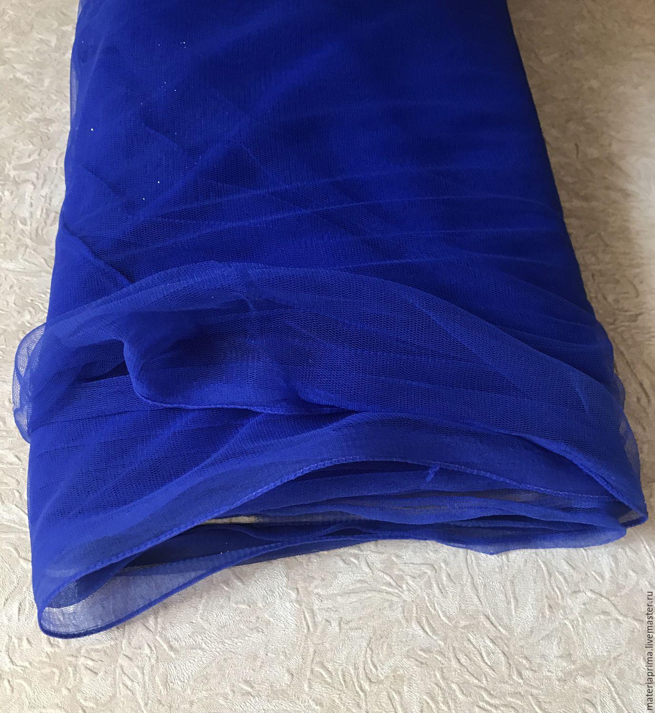 Шитье ручной работы. Ярмарка Мастеров - ручная работа. Купить Фатин (тюль) мягкий матовый синий. Handmade. Тюль