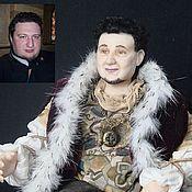 """Куклы и игрушки ручной работы. Ярмарка Мастеров - ручная работа портретная кукла """"Король Треф"""". Handmade."""
