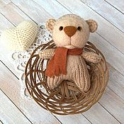 Куклы и игрушки handmade. Livemaster - original item Bear knitted with needles with a felted face. Handmade.