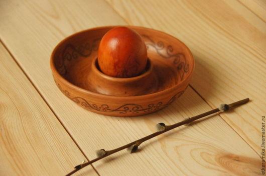 Подарки на Пасху ручной работы. Ярмарка Мастеров - ручная работа. Купить подставка для яиц. Handmade. Рыжий, керамика ручной работы