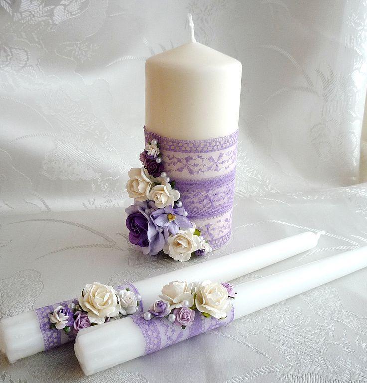 Украшения свечей на свадьбу своими руками фото