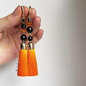 Tassel earrings handmade. Livemaster - original item Earrings-brush