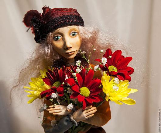 Коллекционные куклы ручной работы. Ярмарка Мастеров - ручная работа. Купить Интерьерная кукла Осенняя Меланхолия. Handmade. Комбинированный