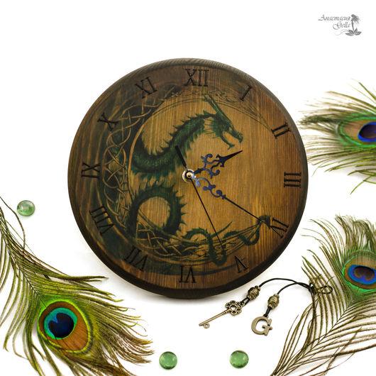 """Часы для дома ручной работы. Ярмарка Мастеров - ручная работа. Купить Часы настенные """"Луна дракона"""". Handmade. Часы"""
