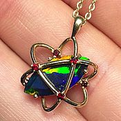 Украшения handmade. Livemaster - original item Orbit II pendant with Opal in gold. Handmade.