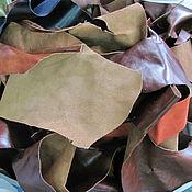 Мех ручной работы. Ярмарка Мастеров - ручная работа Куски натуральной кожи для верха обуви 47. Handmade.