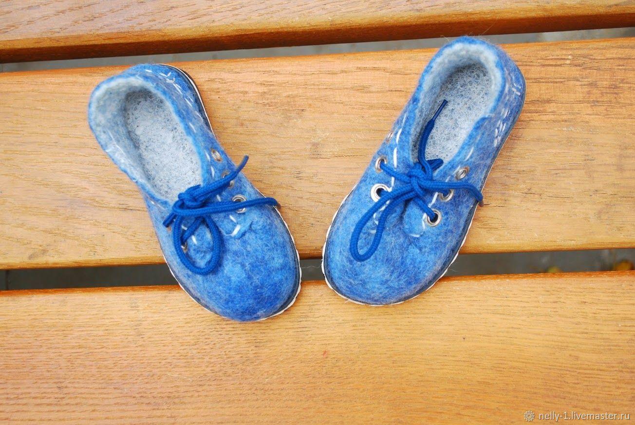 Туфли валяные для детей Аквамарин, Туфли, Киев,  Фото №1