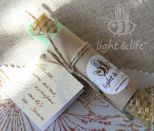 Свечи ручной работы. Ярмарка Мастеров - ручная работа. Купить Свеча восковая с базиликом «Благодарность маме». Handmade. Любовь