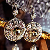 Украшения handmade. Livemaster - original item Earrings with tassels. Earrings with Swarovski crystals. Oriental style.. Handmade.