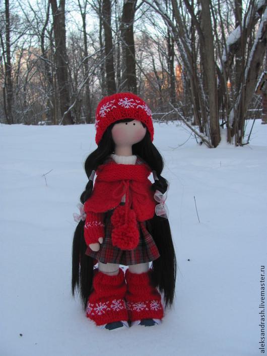 Коллекционные куклы ручной работы. Ярмарка Мастеров - ручная работа. Купить Кукла текстильная. Handmade. Ярко-красный, синтепух