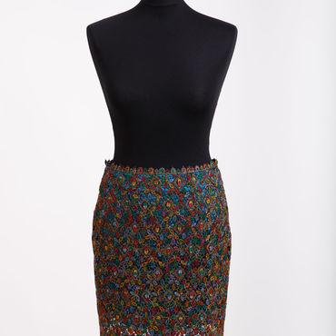 Одежда ручной работы. Ярмарка Мастеров - ручная работа Кружевная юбка разноцветной окраски. Handmade.