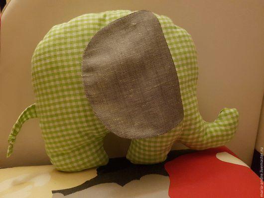 Игрушки животные, ручной работы. Ярмарка Мастеров - ручная работа. Купить Игрушка слоник. Handmade. Текстильная игрушка, зеленый цвет