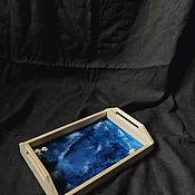 Подносы ручной работы. Ярмарка Мастеров - ручная работа Поднос Глубокое море. Handmade.