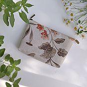 Сумки и аксессуары handmade. Livemaster - original item Cosmetic bag with a zipper with a pocket Rus option 4. Handmade.