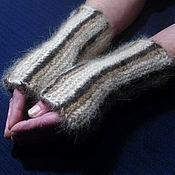 Аксессуары handmade. Livemaster - original item Women`s knitted mittens From Leo. Handmade.