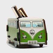 Канцелярские товары ручной работы. Ярмарка Мастеров - ручная работа Настольный органайзер VW Camper (зеленый). Handmade.