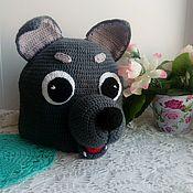 Работы для детей, handmade. Livemaster - original item Wolf - cap knitted. Handmade.