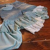 Skirts handmade. Livemaster - original item Skirts: Boho skirt of jeans Second life things green recycle. Handmade.