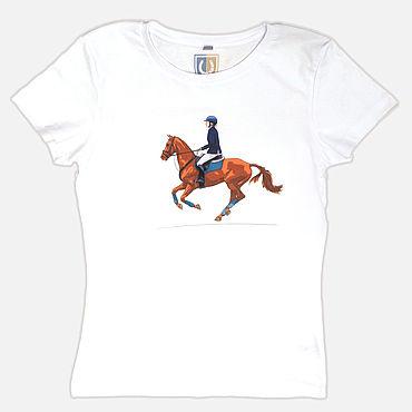 Одежда ручной работы. Ярмарка Мастеров - ручная работа Авторская футболка 308. Handmade.