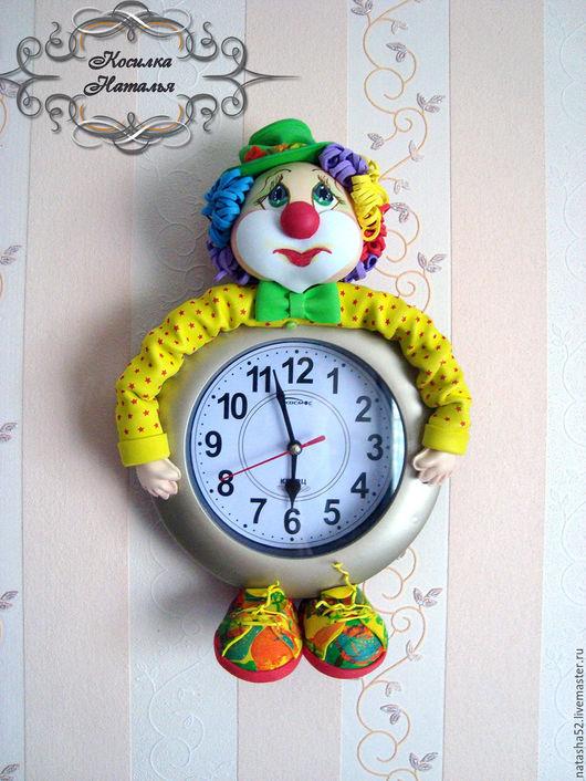 """Часы для дома ручной работы. Ярмарка Мастеров - ручная работа. Купить Часы для детской комнаты """"Клоун"""". Handmade. Комбинированный"""