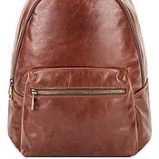 Сумки и аксессуары handmade. Livemaster - original item Leather backpack Violetta (brown). Handmade.