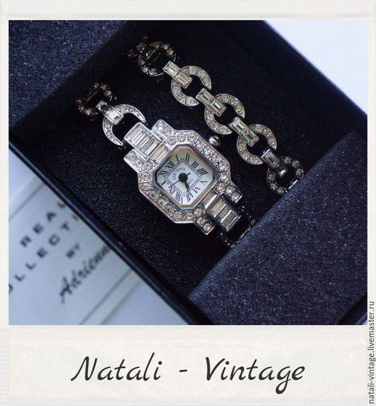 """Винтажные украшения. Ярмарка Мастеров - ручная работа. Купить Часы наручные женские + браслет """"Bright Shine"""" Real Collectibles, США. Handmade."""