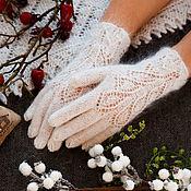 Аксессуары handmade. Livemaster - original item Down gloves with beads