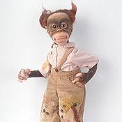"""Куклы и игрушки ручной работы. Ярмарка Мастеров - ручная работа Обезьянка валяная """"Парнишка вихрастый"""" Продан. Handmade."""