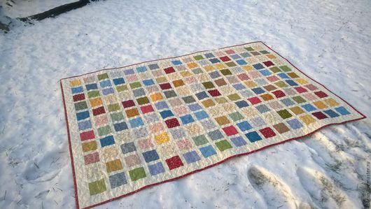 """Текстиль, ковры ручной работы. Ярмарка Мастеров - ручная работа. Купить Лоскутное покрывало""""Радость"""". Handmade. Цветной, лоскутное покрывало"""