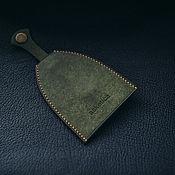 Сумки и аксессуары handmade. Livemaster - original item Housekeeper olive button genuine leather. Handmade.