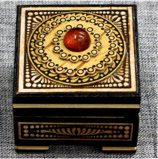 Шкатулки ручной работы. Ярмарка Мастеров - ручная работа. Купить шкатулка из дерева с янтарём помолвка для предложения для кольца. Handmade. Для кольца