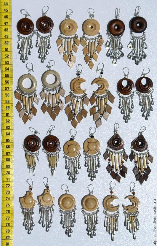 Серьги ручной работы. Ярмарка Мастеров - ручная работа. Купить Серёжки из дерева. Handmade. Коричневый, дерево, деревянный, сережки, серьги