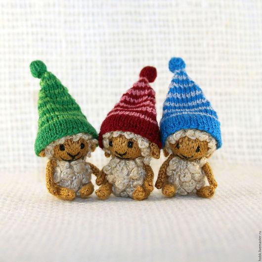 Миниатюра ручной работы. Ярмарка Мастеров - ручная работа. Купить Вязаные миниатюрные овечки. Handmade. Белый, амигуруми