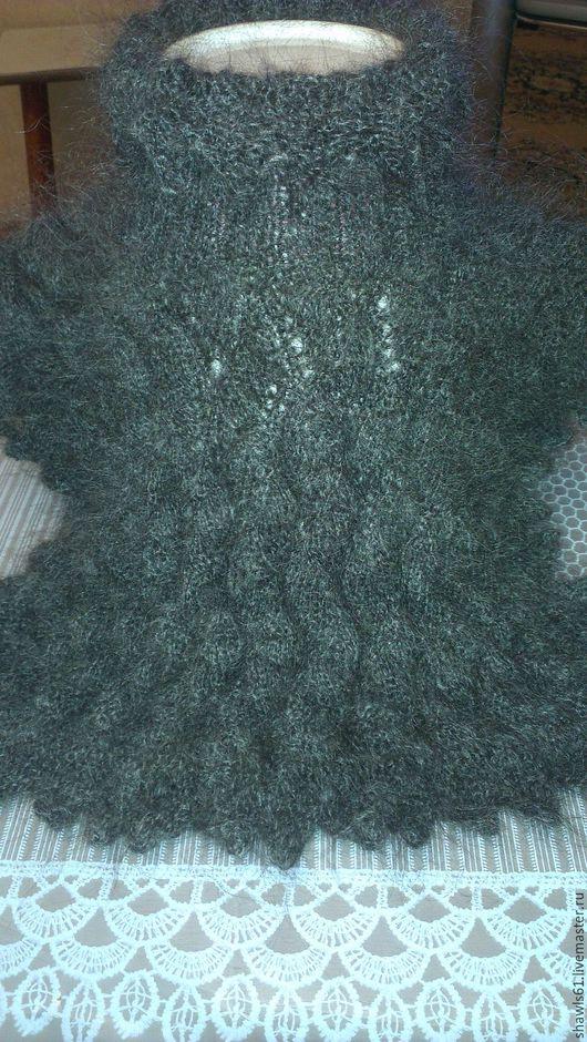 Шарфы и шарфики ручной работы. Ярмарка Мастеров - ручная работа. Купить МАНИШКА пуховая. Handmade. Темно-серый, подарок женщине