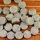 Бусины Розочка из натурального камня амазонит формы диск с вырезанной розой на обеих поверхностях для сборки украшений