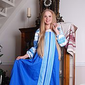 Одежда handmade. Livemaster - original item Sundress cookiny blue. Handmade.