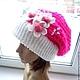 Шапки ручной работы. Ярмарка Мастеров - ручная работа. Купить вязаная теплая объемная шапка - берет  (авторская работа). Handmade.