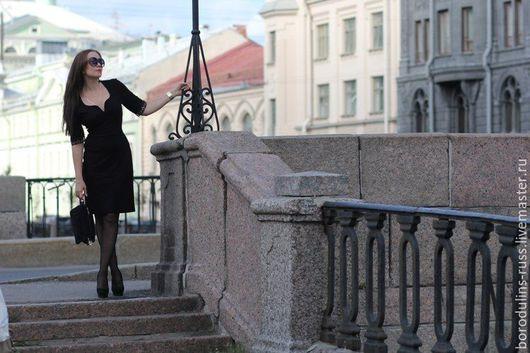 """Платья ручной работы. Ярмарка Мастеров - ручная работа. Купить Платье"""" Тайны Петербурга"""". Handmade. Черный, короткое платье, borodulins"""